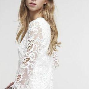 French Connection Nebraska Lace Shift Dress Size 4